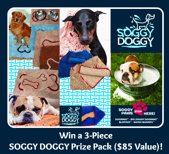 Win a Set of Soggy Doggy Mats Plus Super Shammy! ($ 85 value)