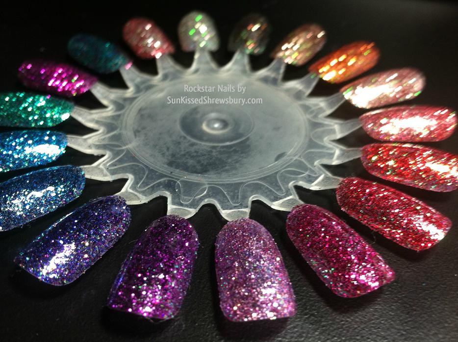 Soak Off Gel Glitter Rockstar Nail Iridescent Opaque Color Options Nailpolish