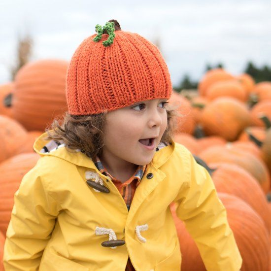 ae5112f3d9a7 Get your little one harvest-ready with this Pumpkin Hat! Free ...