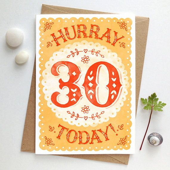 Birthday Card with Envelope 30th