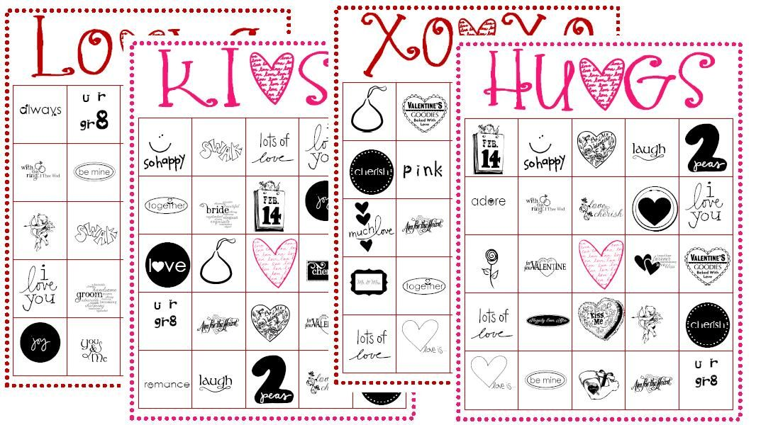 photograph about Printable Valentines Bingo Cards titled Absolutely free Valentines BINGO Playing cards Valentines Working day \u003c3 Valentine