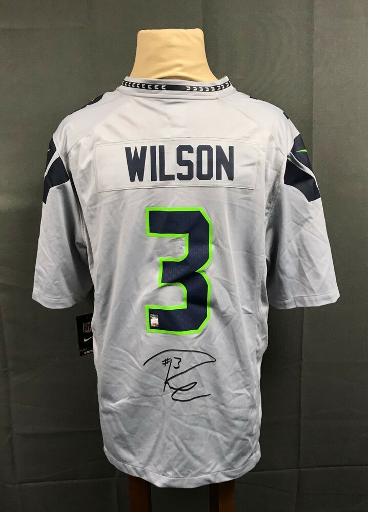 979ce6b14 Russell Wilson  3 Signed Seahawks NIKE Jersey Autographed Sz XL w  Hologram  AUTO
