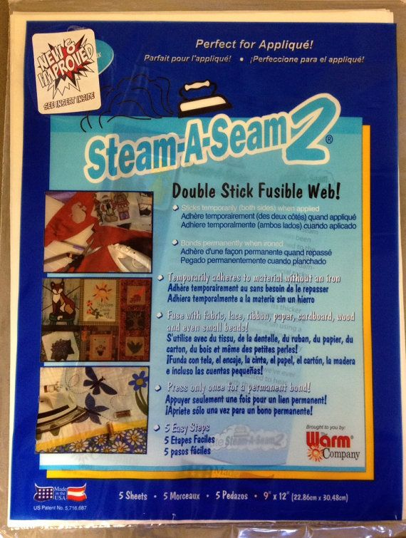 """STEAM A SEAM 2  Fusible Web x 12/"""" Wide sold  by the yard"""