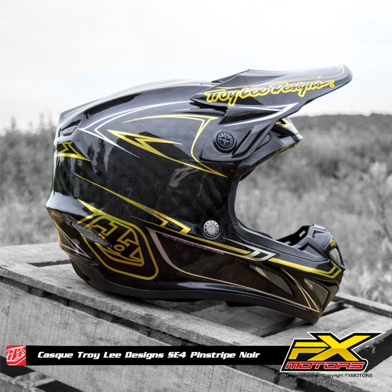 Casque Cross Tld Se4 Carbon Pinstripe Black Stuff I Like