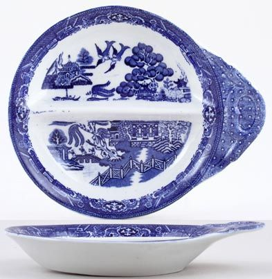 Adderleys Old Willow Dish divided c1930s