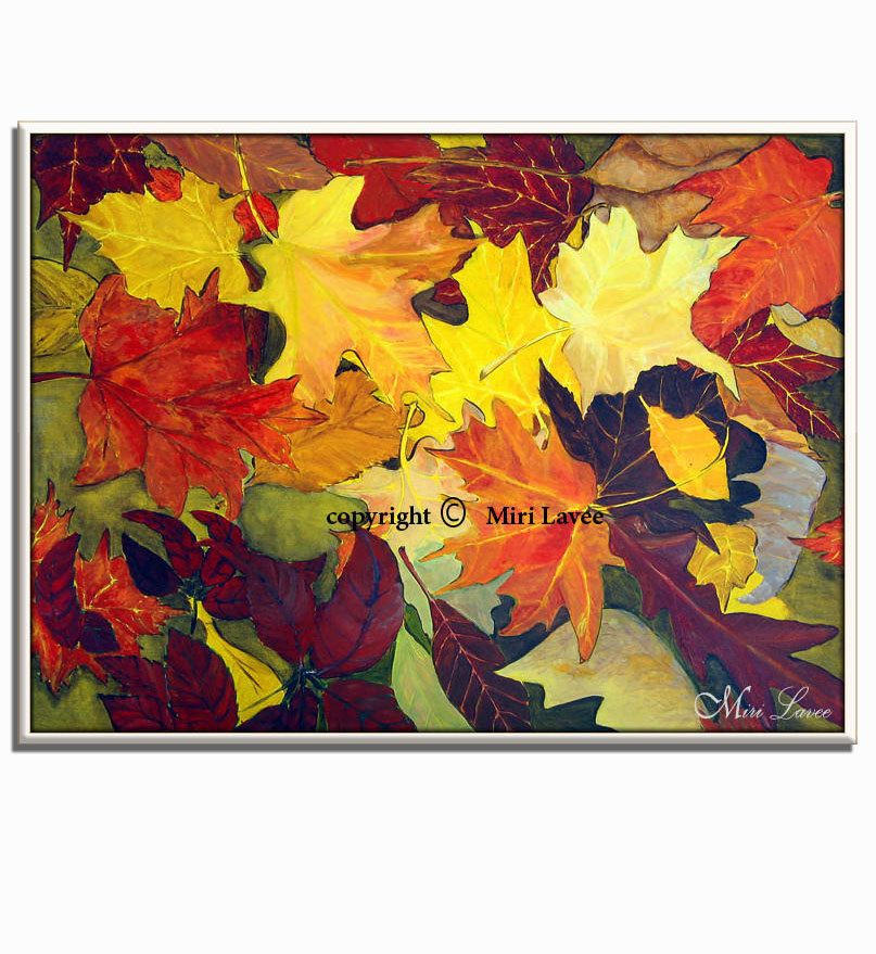 I created this maple leaf abstract painting after a lovely journey ...
