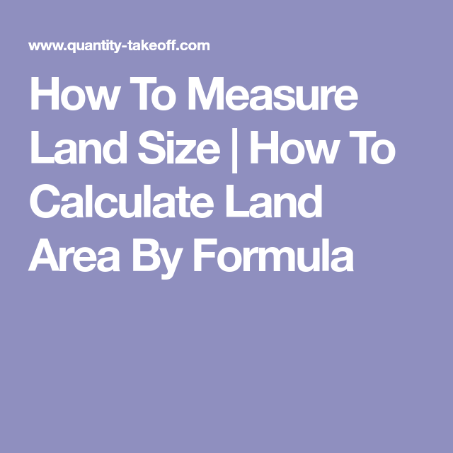 How To Measure Land Size | How To Calculate Land Area By