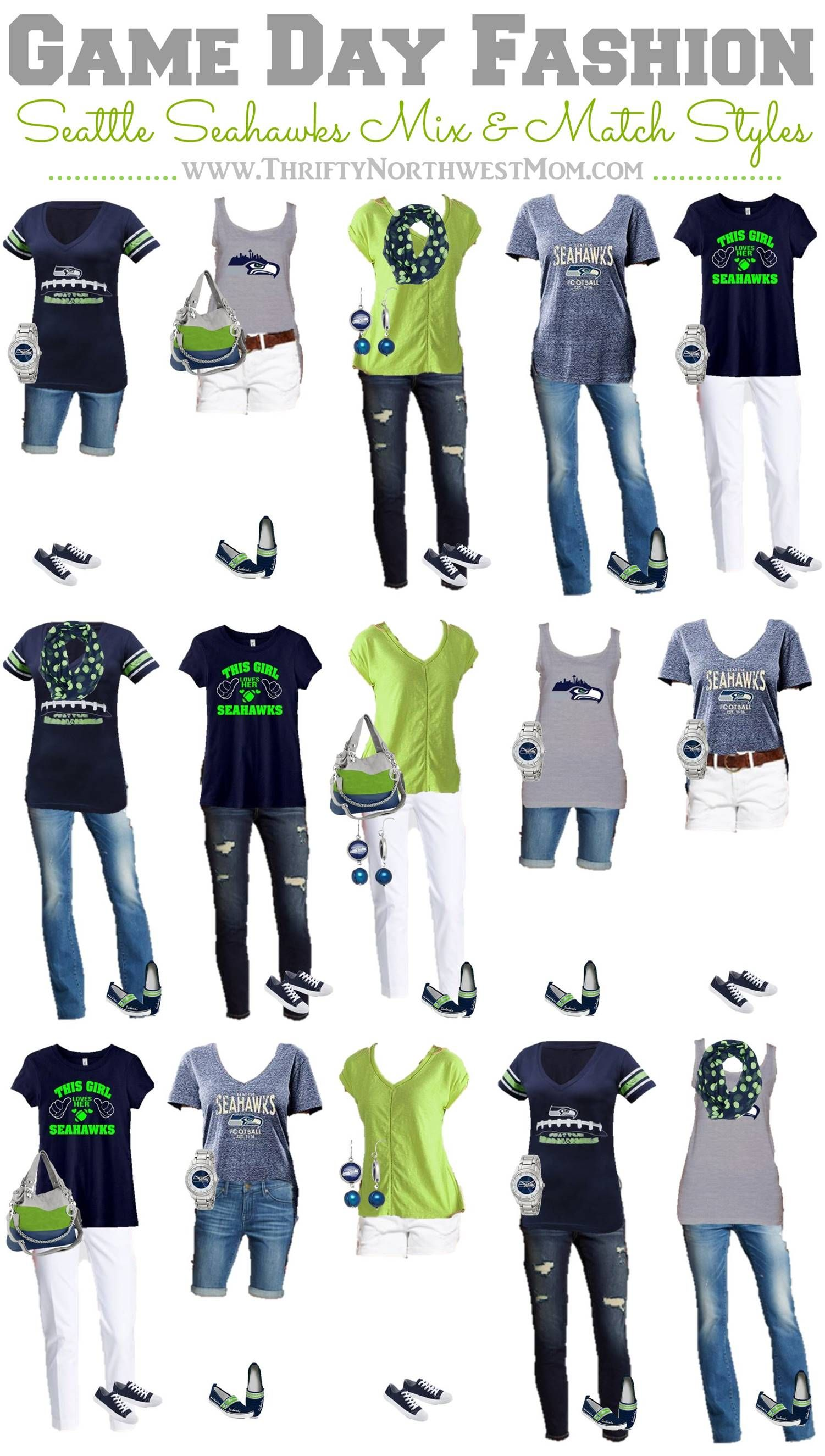 c7e95807 Seattle Seahawks Clothing for Women - 15 Mix & Match Outfits | My ...