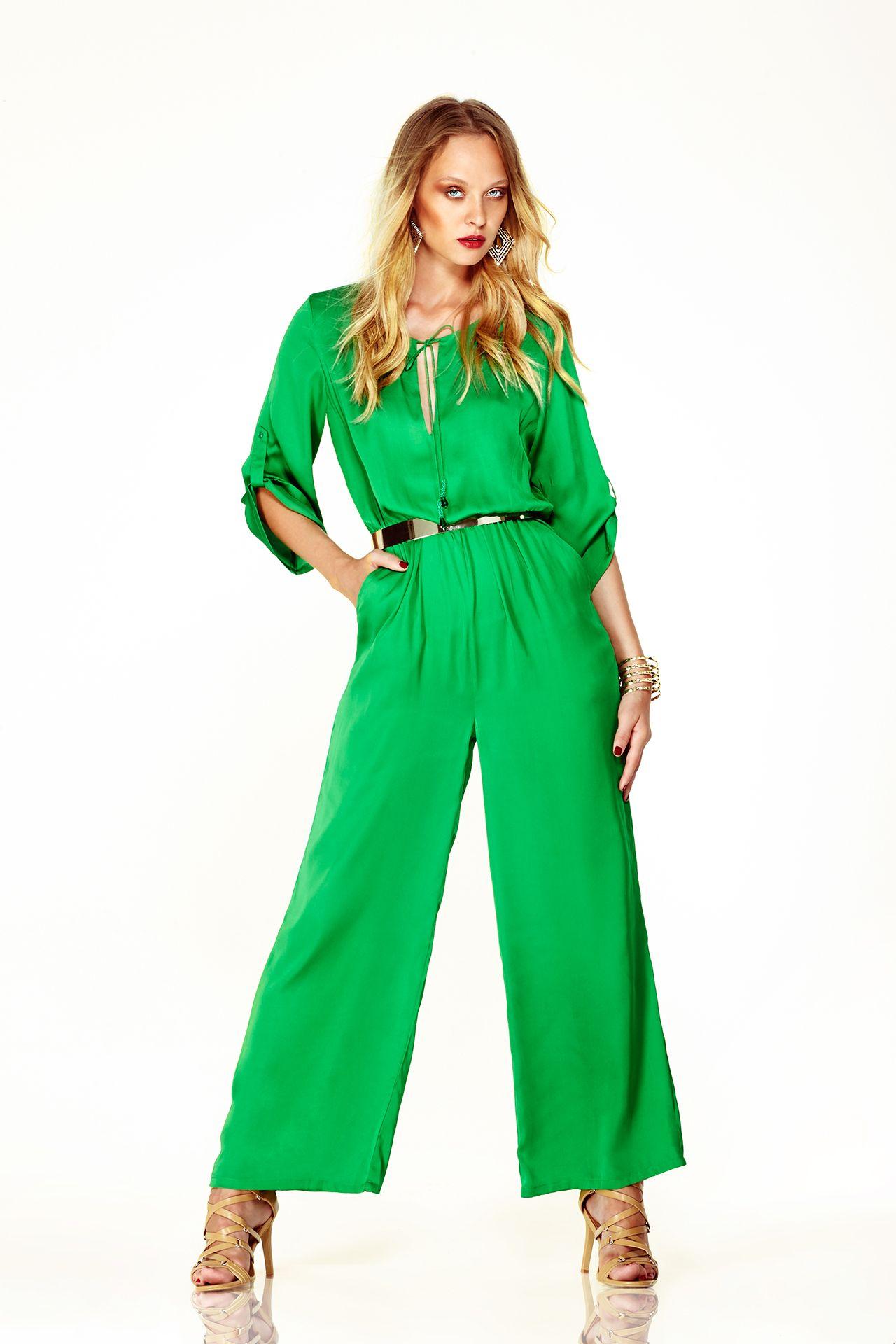 Shahida Parides Camisole Jumpsuit in Bright Green