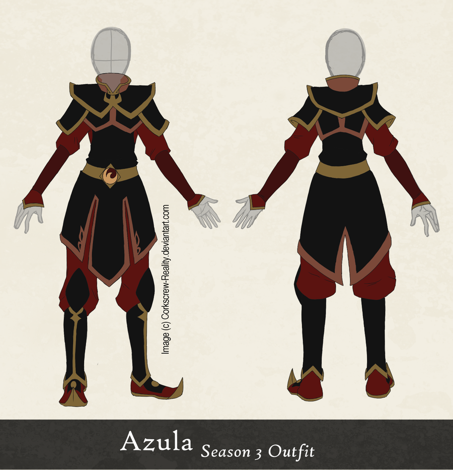 Azula Season 3 Outfit Reference by ~Corkscrew,Reality on