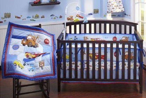 The Disney Baby Cars Junior Junction 4Piece Crib Bedding