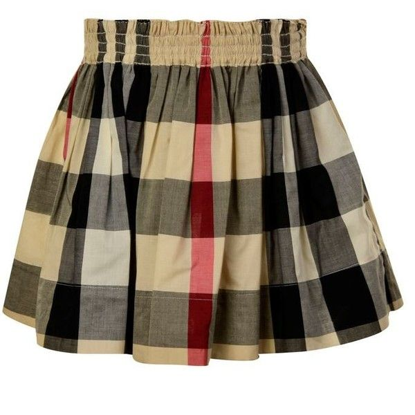 960baff73eeb Burberry London Children Girls Hala Mini Skirt ( 145) ❤ liked on Polyvore  featuring skirts