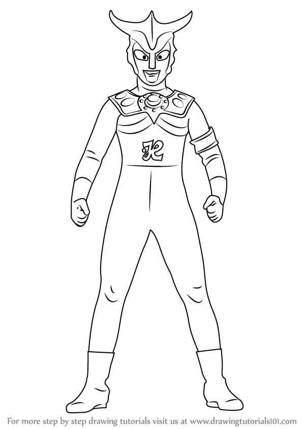 Learn How To Draw An Ultraman Leo Ultraman Step By Step Drawing Tutorials Drawings Leo Drawing Tutorial