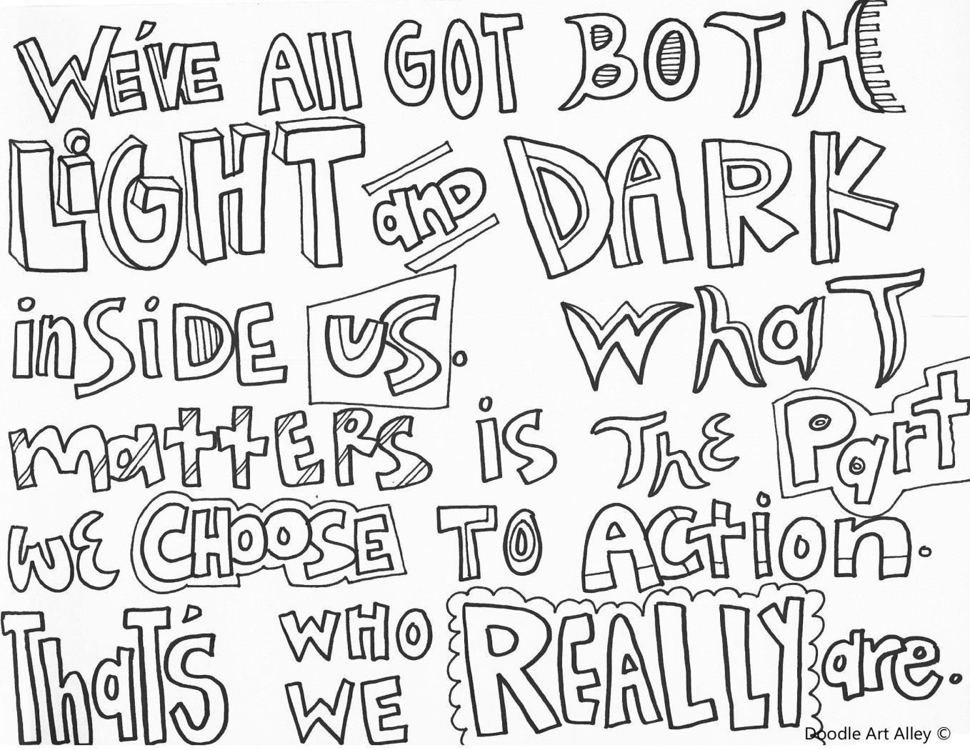 Hp Quote Coloring Page