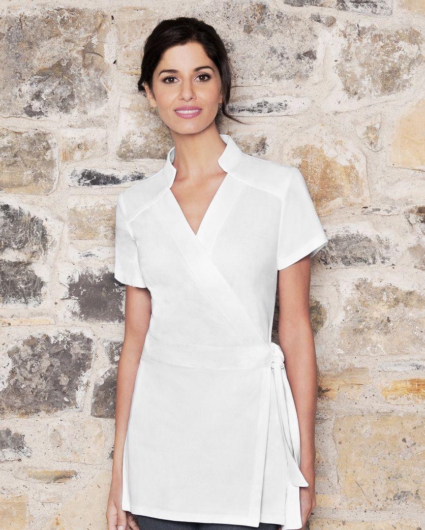 Emma cotton tunic for Spa uniform cotton