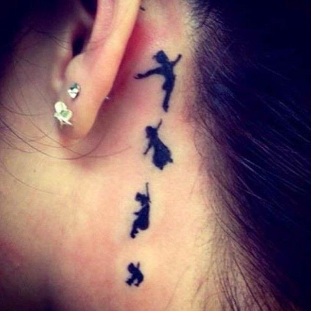 This is pretty cool #tattoo #eartattoo #peterpan