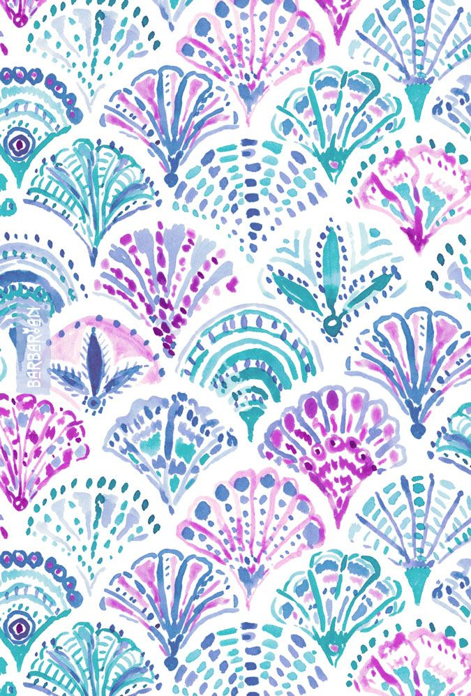 SHELL OUT Boho Mermaid Scales – BARBARIAN by Barbra Ignatiev | Bold colorful art