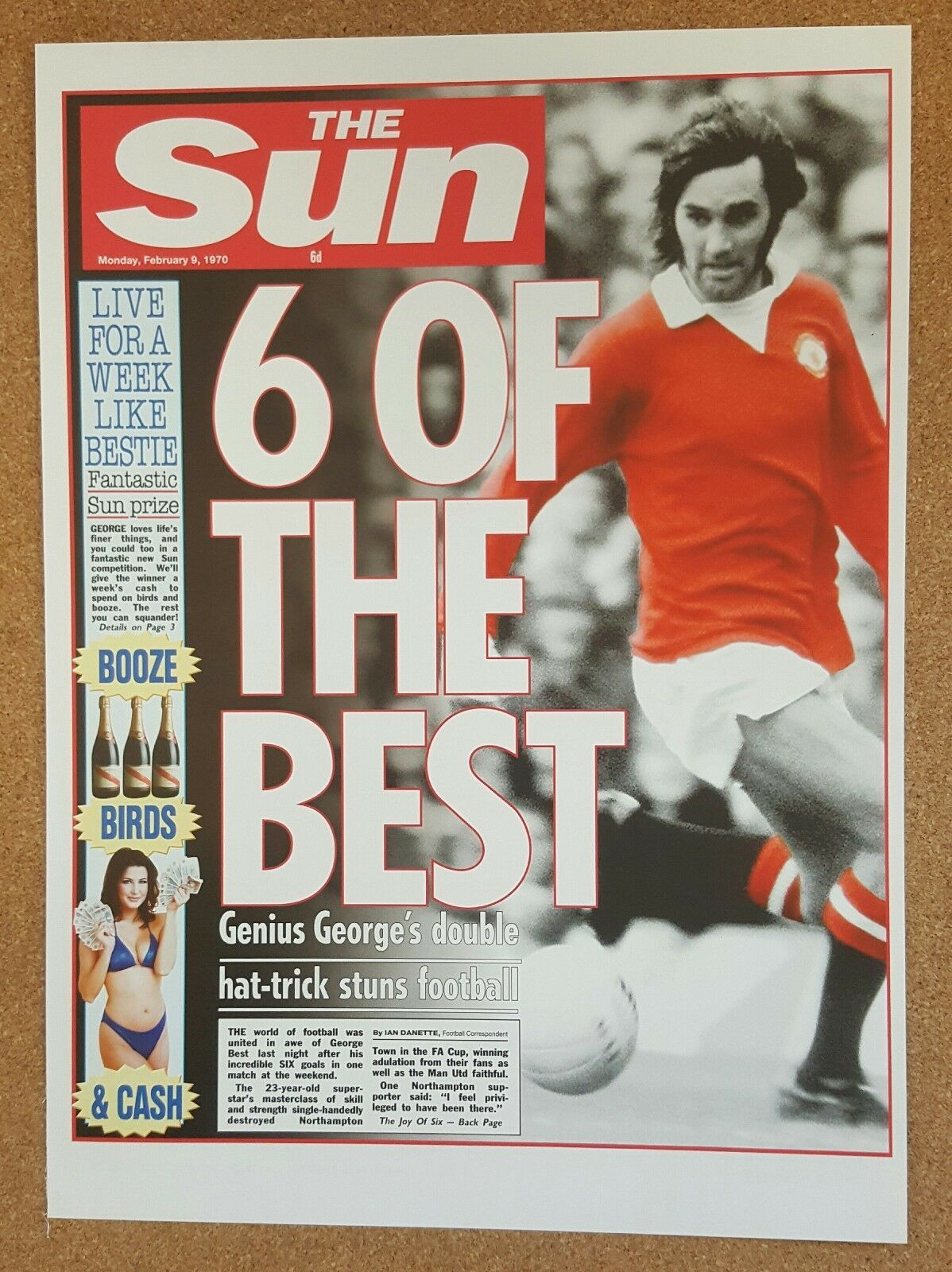 Details about Misc The Sun Newspaper Famous Event