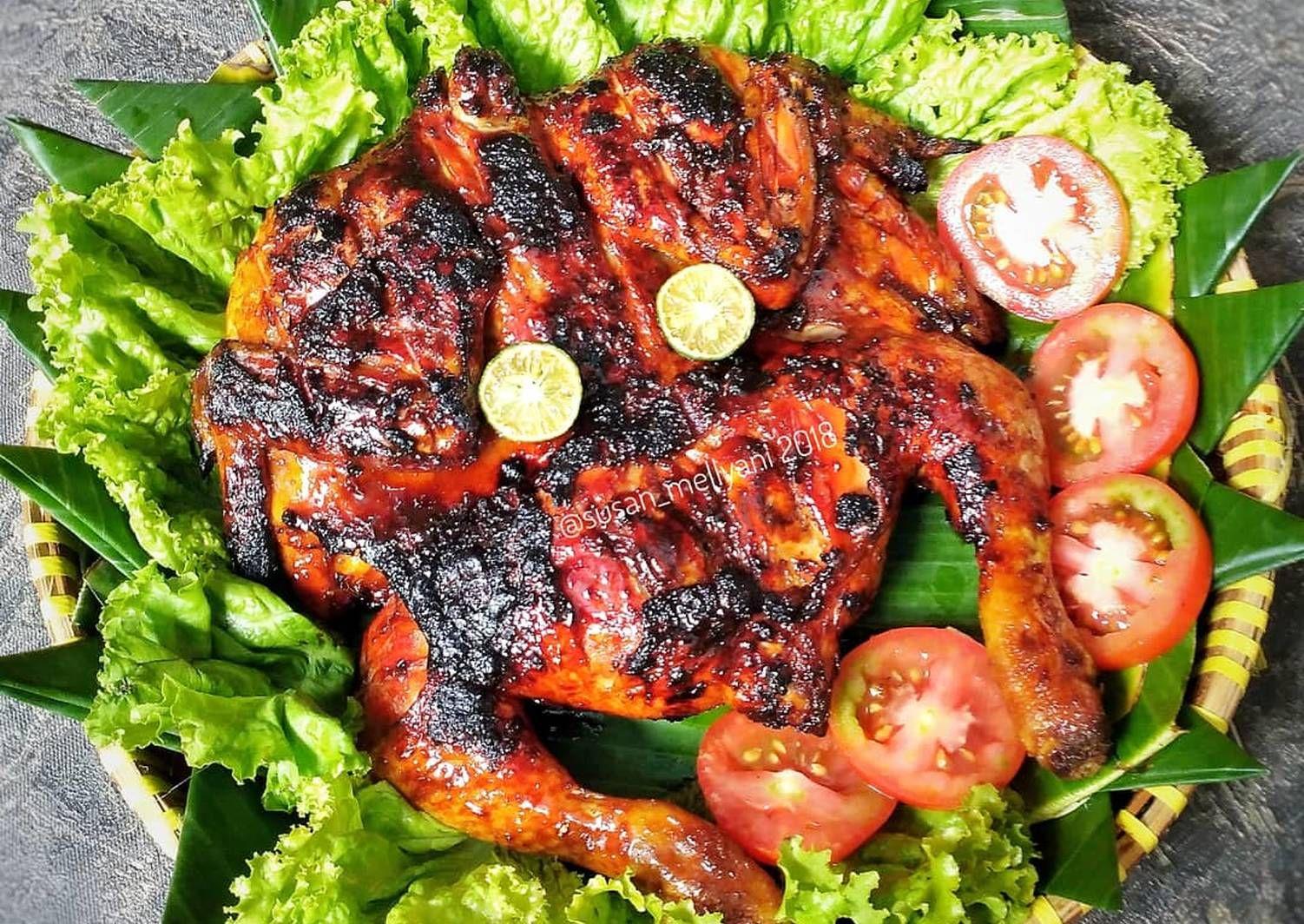 Resep Ayam Bakar Kecap Sambal Kacang Oleh Susan Mellyani Resep Resep Ayam Resep Kacang