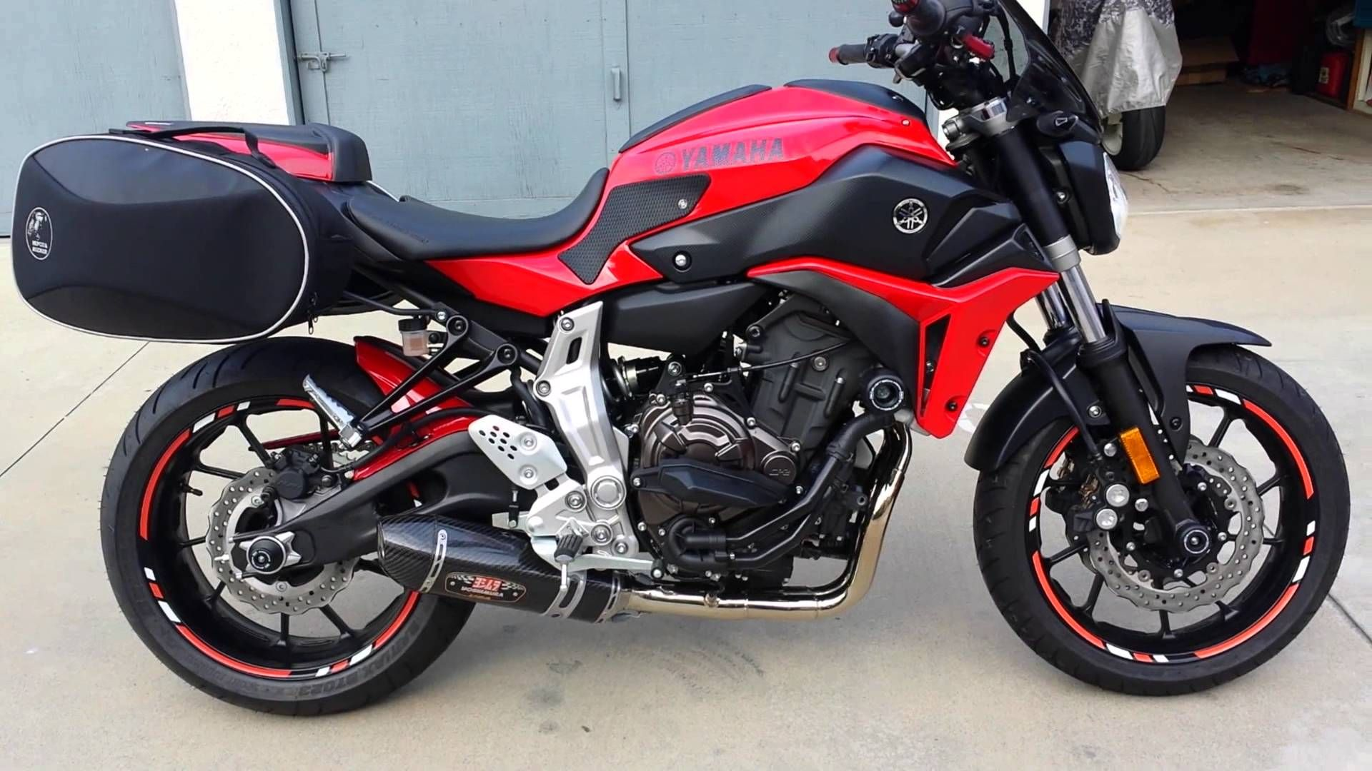 2015 Yamaha Red Fz 07 Mt 07 Walk Through Customized For