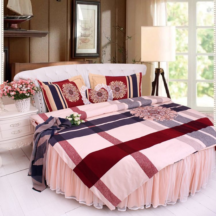 Find More Bedding Sets Information about Cotton Round Bedding 4pcs