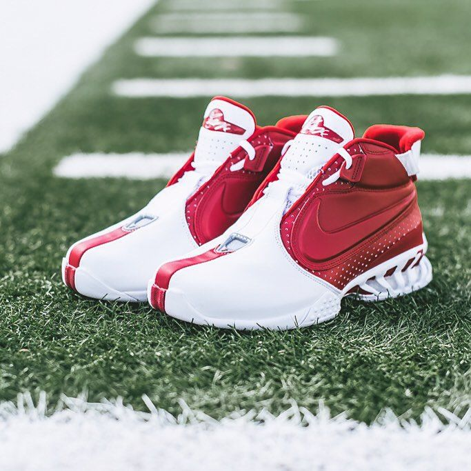 "984c2b717b6 Sneaker Politics on Instagram  ""Nike Air Zoom Vick II - White Varsity Red   160 sizes 8-13 Available 07.17.2015 at our Lafayette and Baton Rouge  locations."