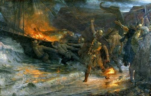 Funeral of a Viking by Sir Frank Dicksee