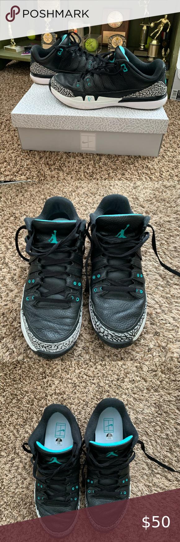EUC Roger Federer Air Jordan Men's Tennis Shoes 12   Air jordans ...