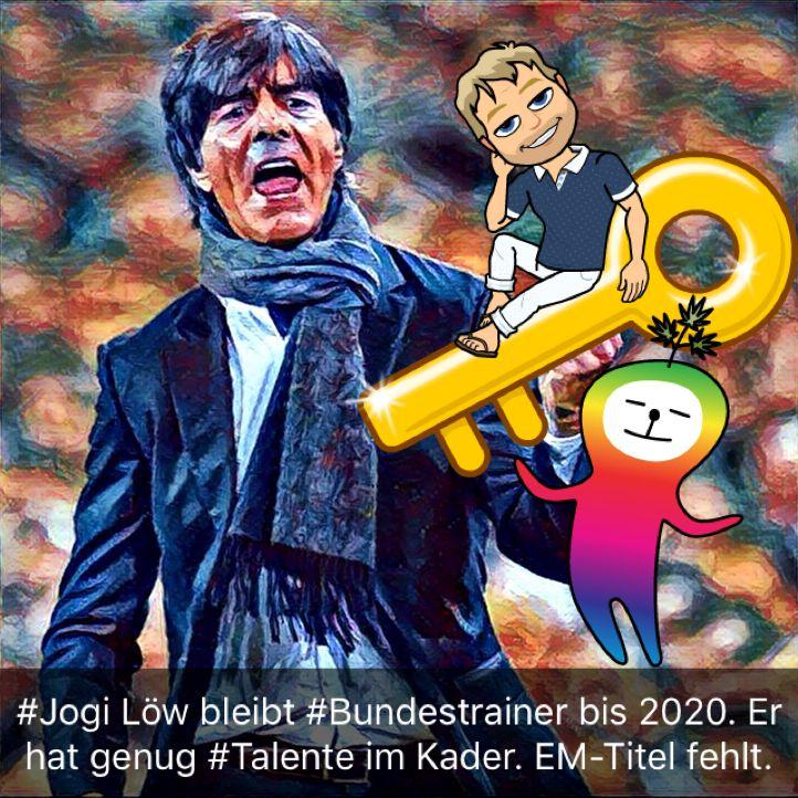 #Jogi Löw bleibt #Bundestrainer bis 2020. Er hat genug #Talente im Kader. EM-Titel fehlt noch.