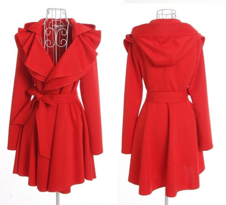 red jacket with hood for women - Google Search | Would Wear ...