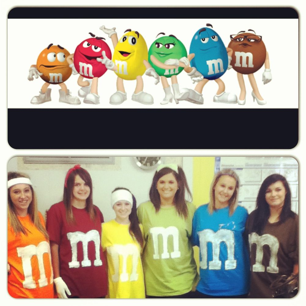 Character day ! M\u0026Ms! Too cute! Homecoming week!