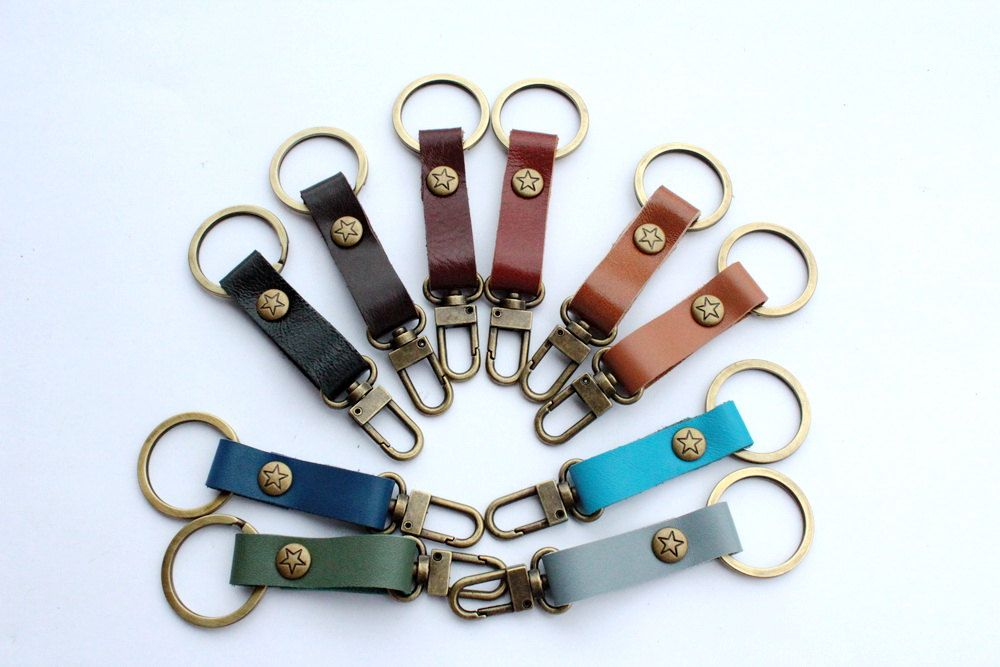 Leather Keychain / Key fob ( For 2 items). $5.00, via Etsy.