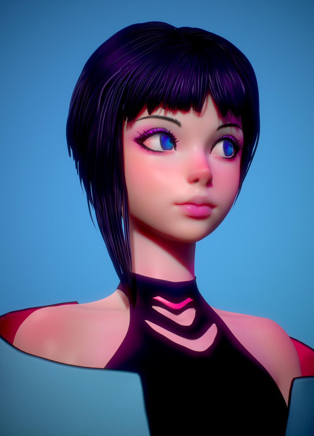 ArtStation - Anime-girl, Olya Anufrieva