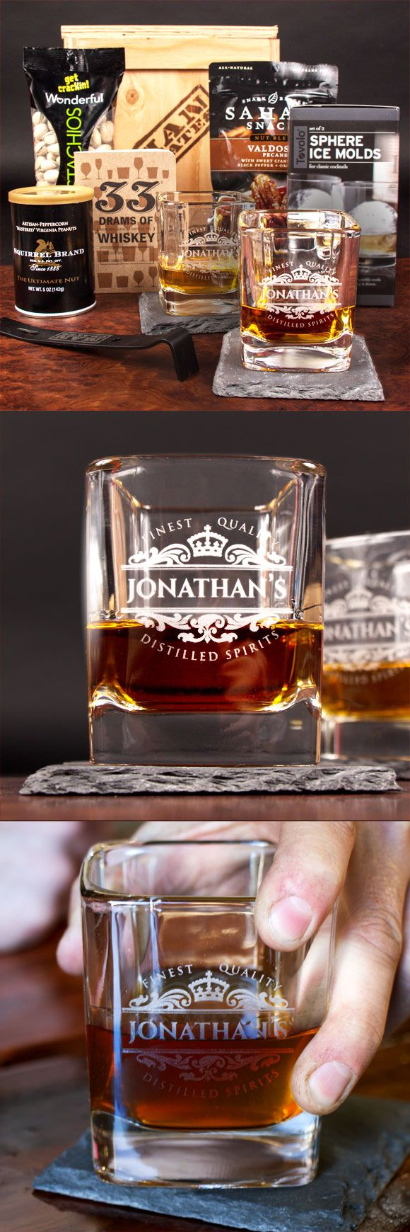 my dad will absolutely love sipping whiskey from a personalized