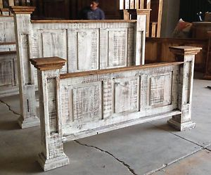 White Washed Furniture Classic Antiqued White Wash Rustic