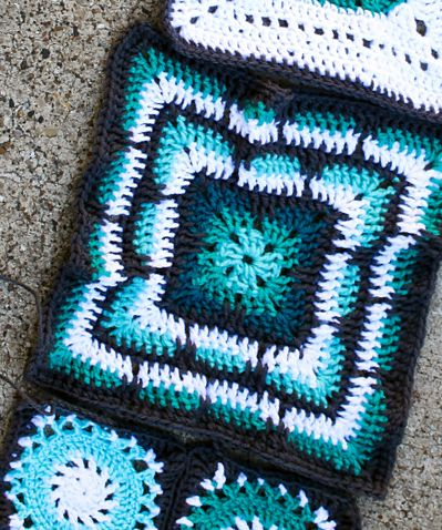 Crochet Pattern Pretty Color Idea For Larksfoot 12 Granny Square