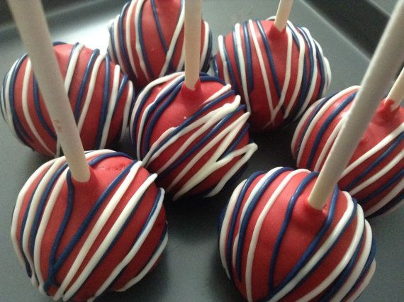 Cake Pops Favors Wedding 4th Of July Party First Birthday Red White Blue