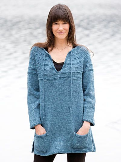 Free Knit Lena\'s Top-Down Sweater pattern featured in Season 8 of ...