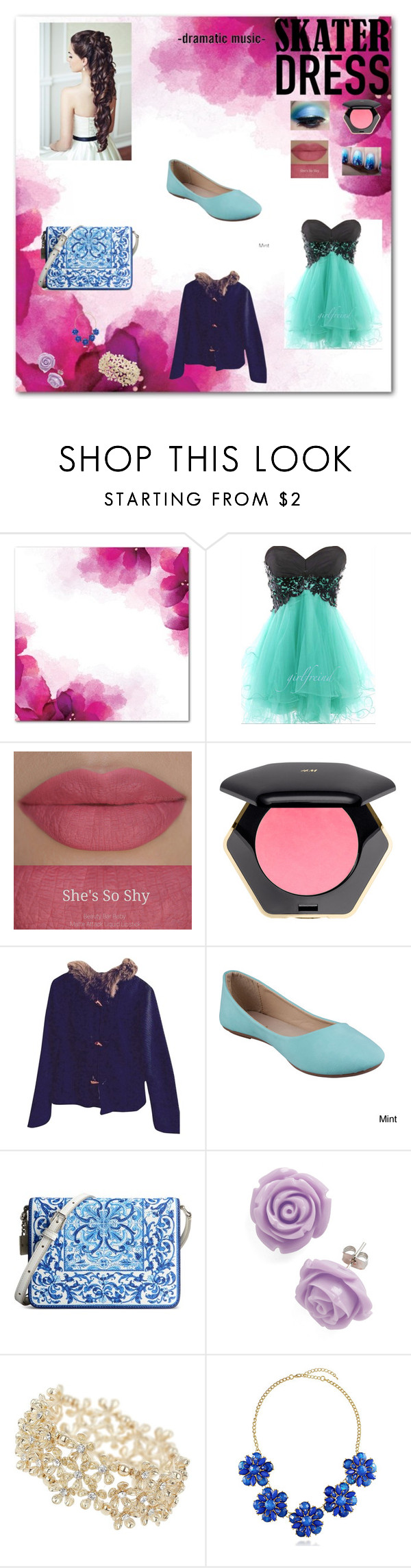 """""""Prom"""" by sunshinekg ❤ liked on Polyvore featuring She's So, H&M, Refresh, Dolce&Gabbana, Retrò, Miss Selfridge and BERRICLE"""