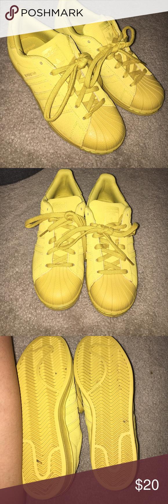 Adidas Superstar Giallo Senape Scarpe Sz 5 Uomini Di Vendere Un Paio Di