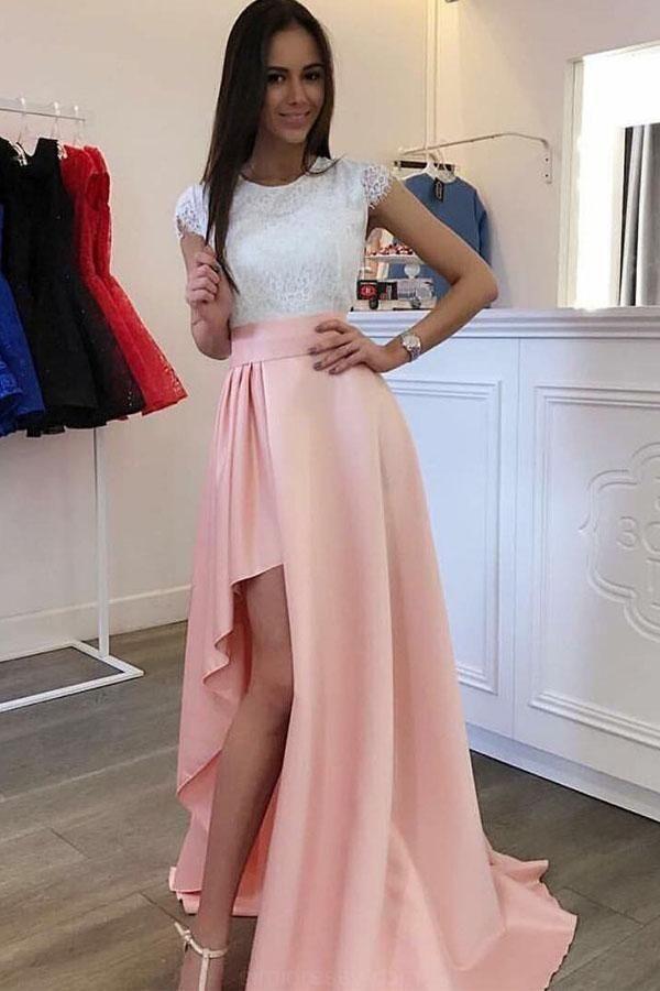 Cute Long Prom Dress Wedding Dresses Sleeves Detachable Train Pearl ...