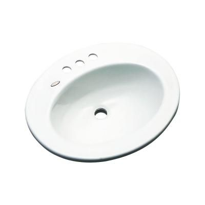 Austin Drop-in Bathroom Sink in White-95400 at The Home Depot
