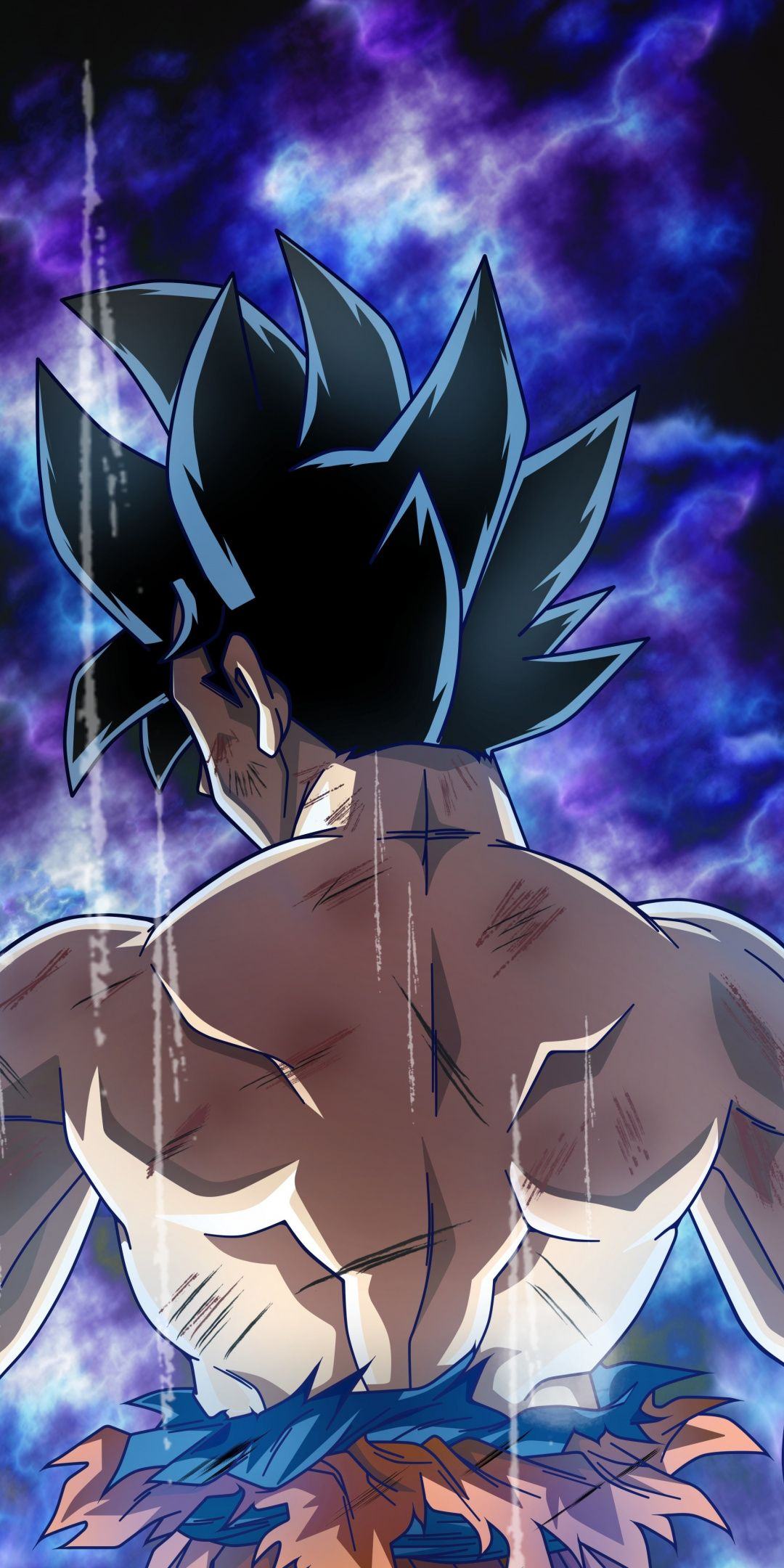 Dragon ball, anime boy, ultra instinct, Goku, 1080x2160