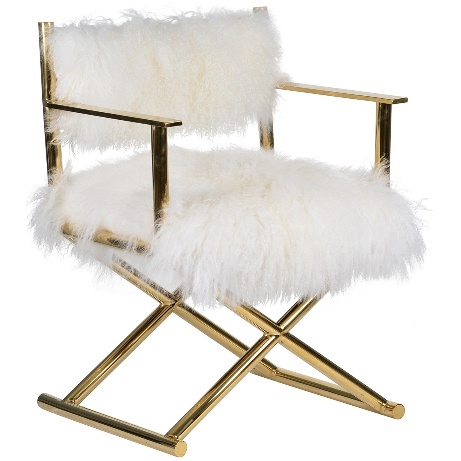 Mongolian Fur Chair Gigi Mongolian Fur Chair Gold Home Is Where The Is