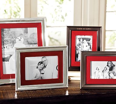 Silver-Plated Grosgrain Ribbon Frame, 5x7 - Red | White picture, Diy ...