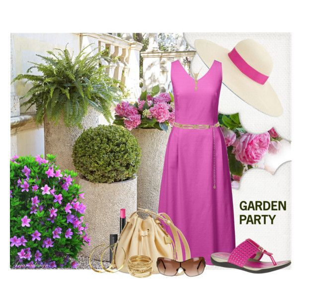 """""""GARDEN PARTY"""" by arjanadesign ❤ liked on Polyvore featuring Genie by Eugenia Kim, Lands' End, Hush Puppies, New Look, Le Métier de Beauté, Skagen, Rebecca Norman, Chanel and ABS by Allen Schwartz"""