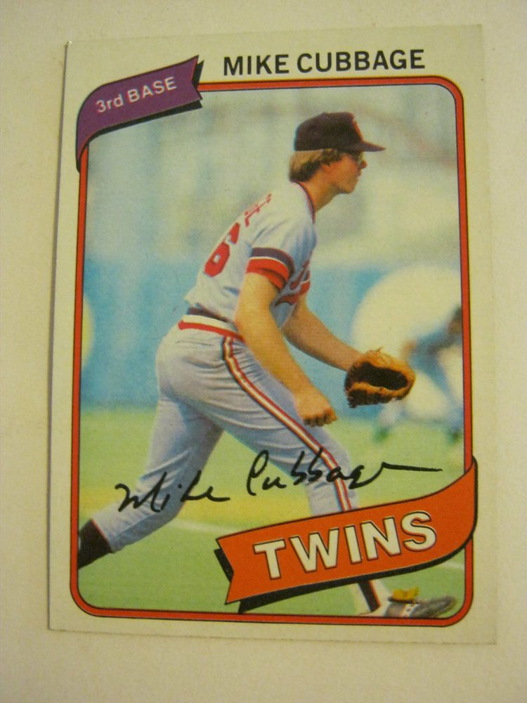 1980 topps 503 mike cubbage baseball card good cond gs23