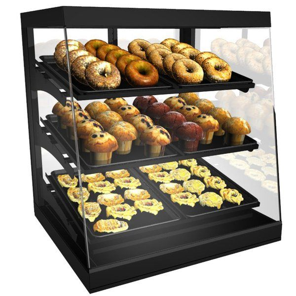 Structural Concepts Cgs2830 Impulse Black 28 Countertop Bakery Display Case With Swinging Rear Doors In 2020 Bakery Display Case Bakery Display