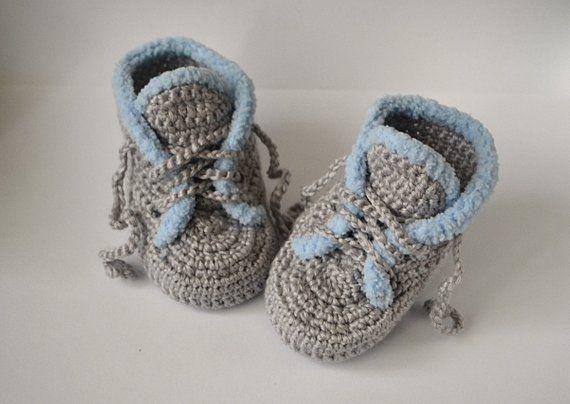 f91762ce95233 Baby boots crochet baby booties newborn shoe crochet slippers, baby ...