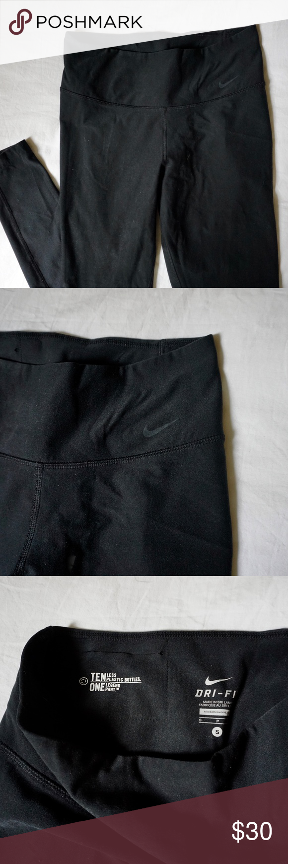 be4a811ca88f54 Ten Less Plastic Bottle Nike Legend Pant Ten Less Plastic Bottle Nike  running tights. Size S, dri-fit. Nike Pants Leggings